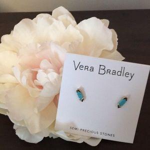 NWT Vera Bradley Gold Tone Turquoise Earrings